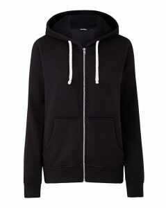 Black Zip-Through Hoodie