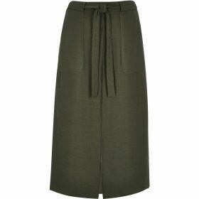 River Island Womens Khaki utility midi skirt