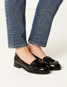 M&S Collection Patent Tassel Loafers