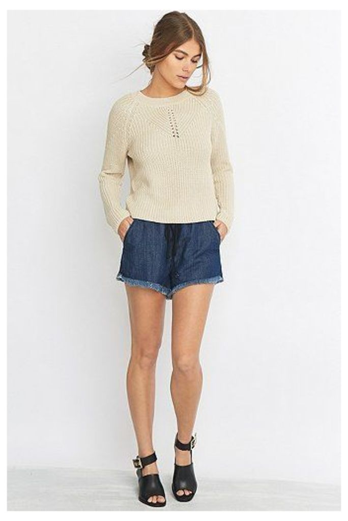 Noisy May Sienna Cream Crew Neck Jumper, Cream