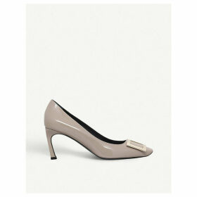 Belle Vivier Trompette patent-leather courts