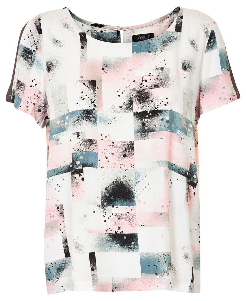 Soaked in Luxury Spray Paint Top, Multi-Coloured