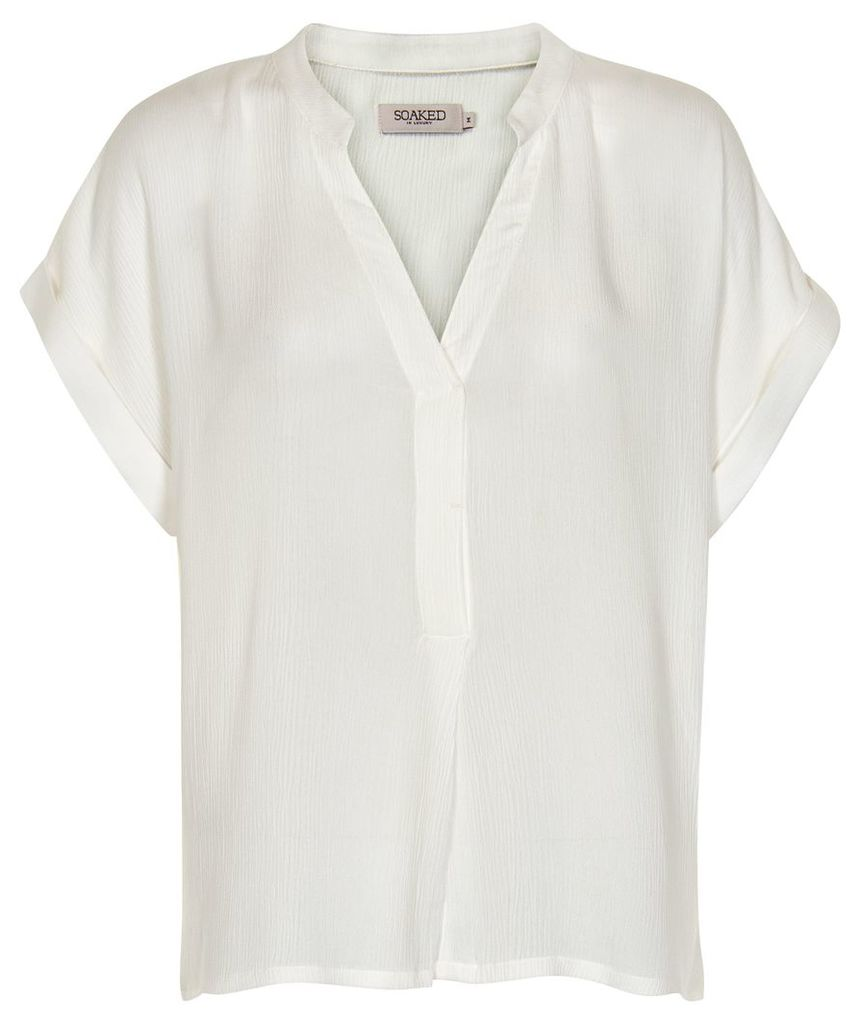 Soaked in Luxury Oversized V-Neck Top, White