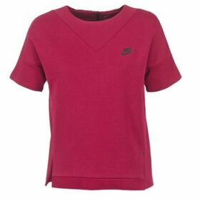 Nike  TECH FLEECE CREW  women's Sweatshirt in Pink
