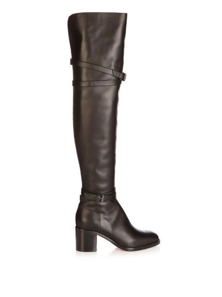 Karialta 70mm over-the-knee leather boots