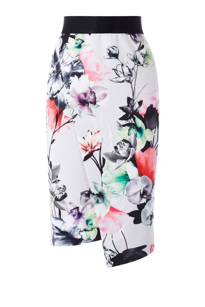 Coast Leche Print Pencil Skirt, Multi-Coloured