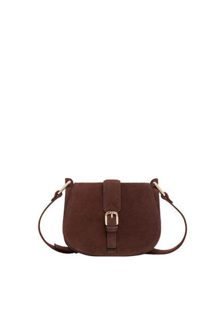 Suede cross-body bag