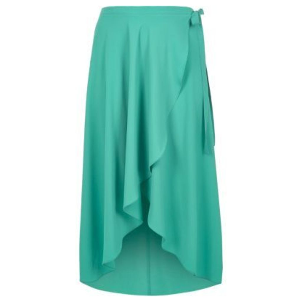 River Island Womens RI Plus wrap maxi skirt