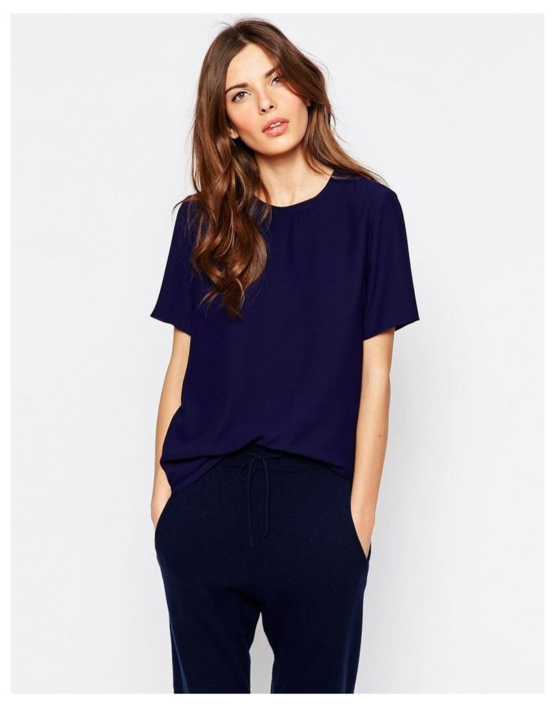 Selected Dora Short Sleeved Top - Patriot blue