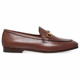 Gucci Jordaan leather loafers, Women's, Size: EUR 36.5 / 3.5 UK WOMEN, Brown