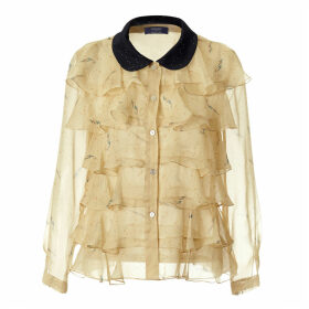 By Moumi - Pearldrop Frilly Shirt