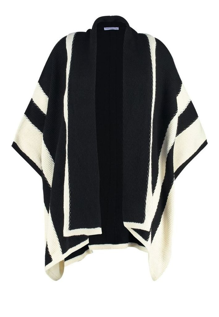 Anna Field Curvy Cape black/creme