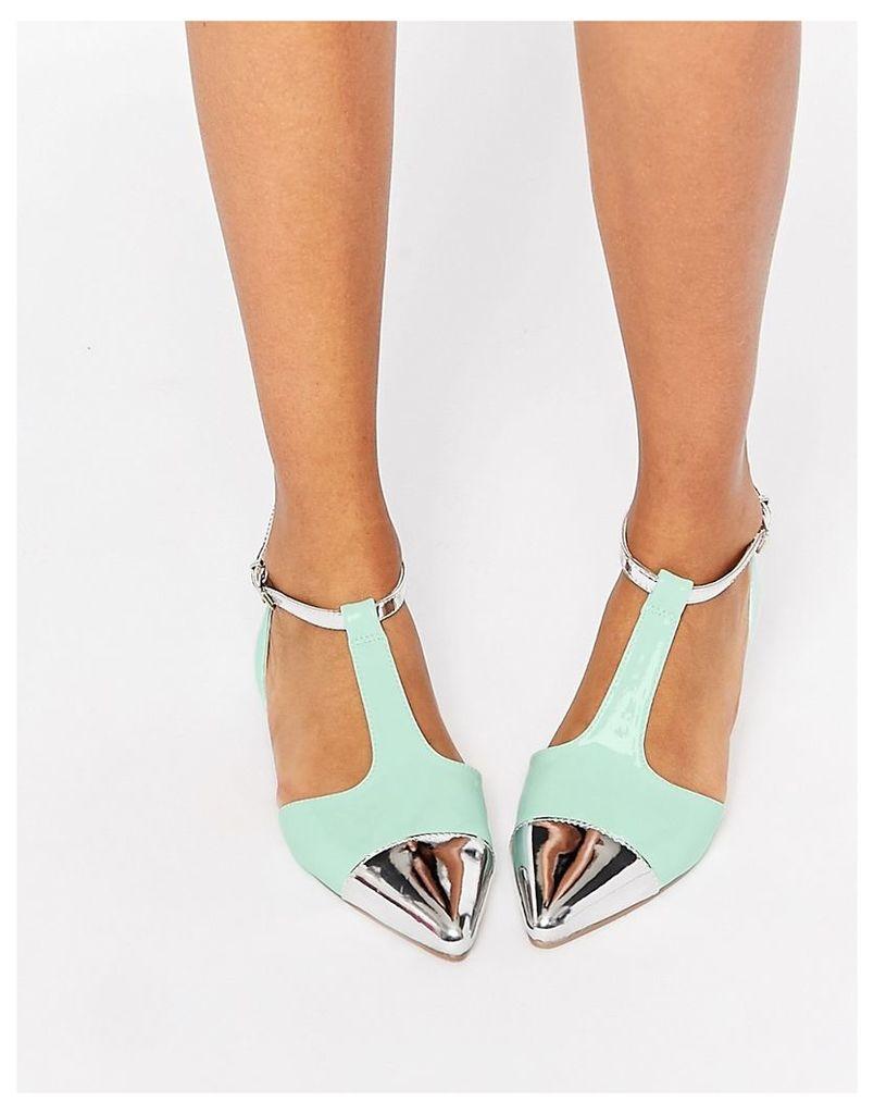 ASOS LINGO Pointed Ballet Flats - Mint