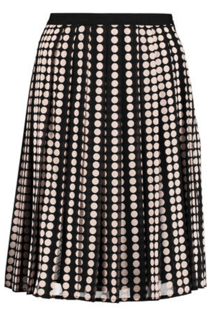 Tory Burch - Raisa Pleated Stretch-silk Chiffon Skirt - Black