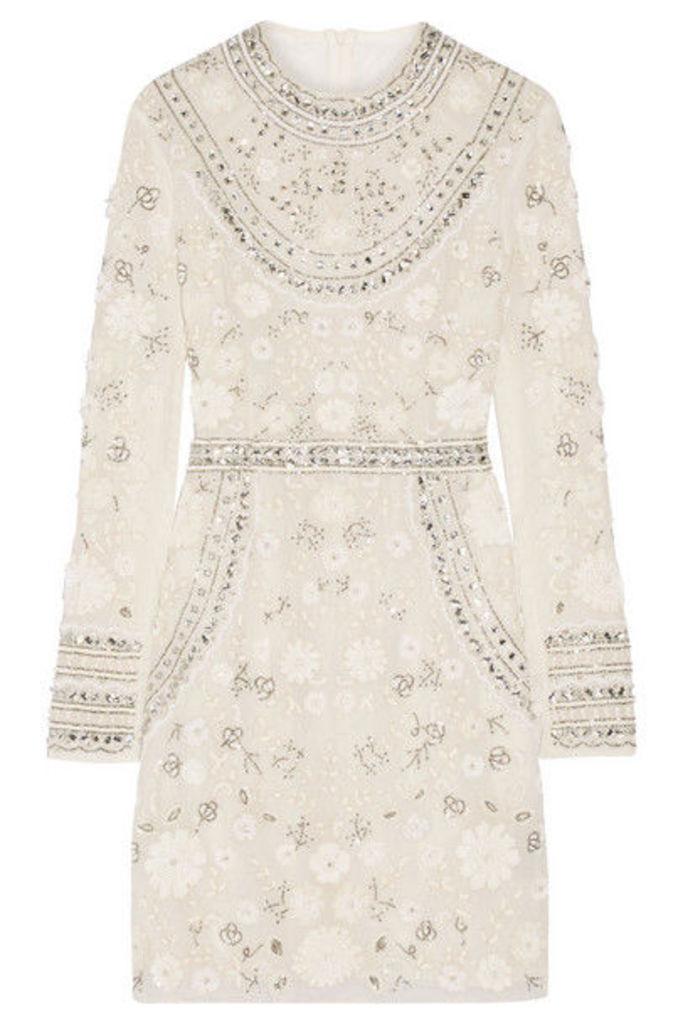 Needle & Thread - Bridal Embellished Tulle Mini Dress - Ivory