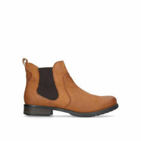 Carvela Solid - Tan Flat Ankle Boots