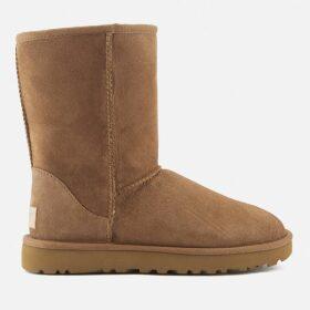 UGG Women's Classic Short II Sheepskin Boots - Chestnut - UK 8