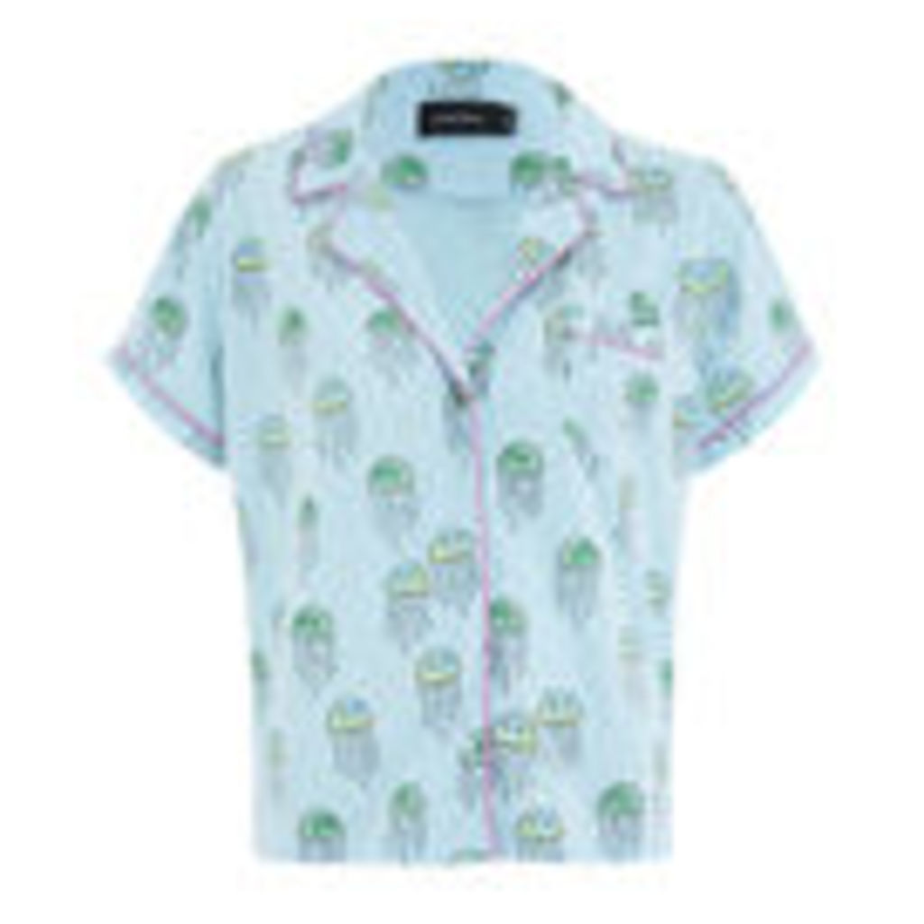 MINKPINK Women's You Jelly Button Front Shirt - Multi - XS/UK 6