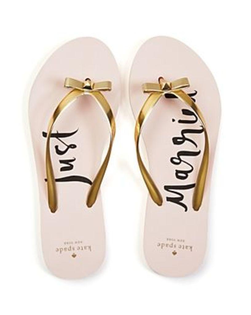 kate spade new york Nadine Just Married Flip-Flops