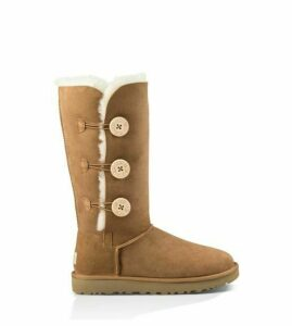 UGG Bailey Button Triplet Ii Boot Womens Boots Chestnut 6