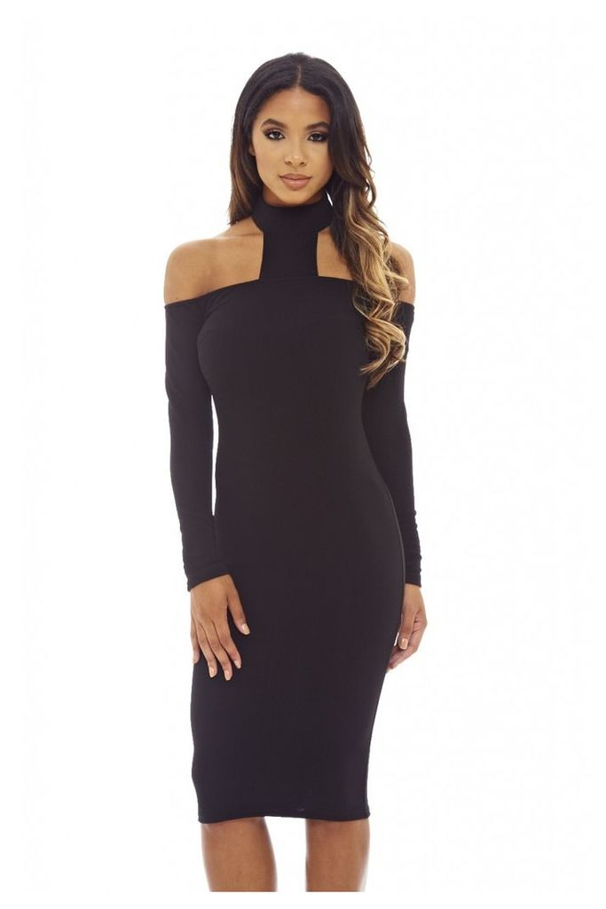AX Paris Black bodycon midi dress