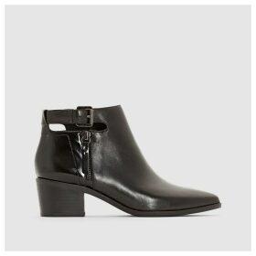 Lia Heeled Leather Boots