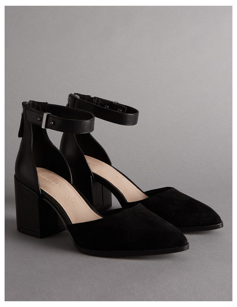 Autograph Block Heel Court Shoes with Insolia