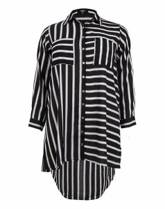 Koko Contrast Stripe Pocket Shirt