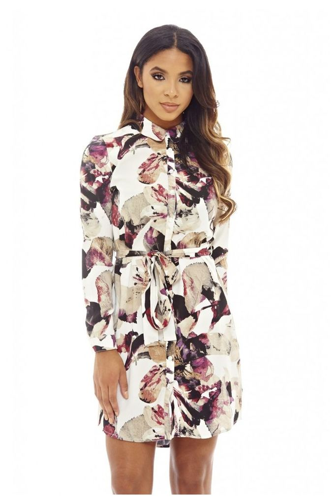 AX Paris Printed Shirt Dress Multi