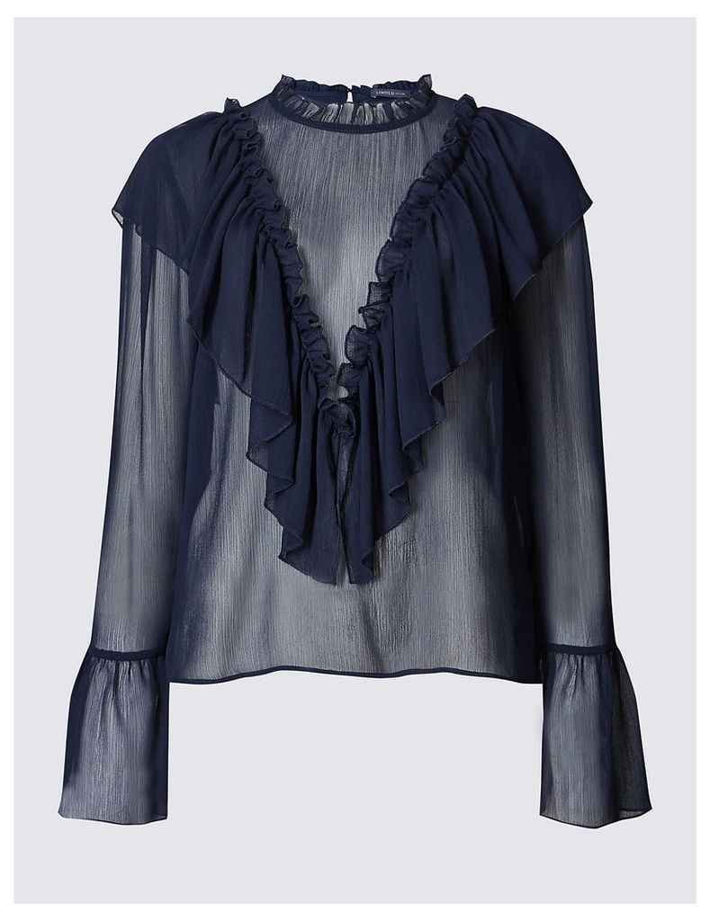 M&S Collection Ruffle Front Blouse