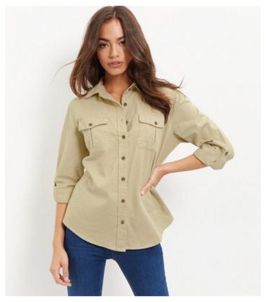 Apricot Stone Military Shirt