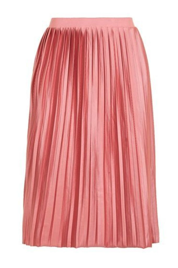 Womens PETITE Jersey Pleat Skirt - Rose, Rose