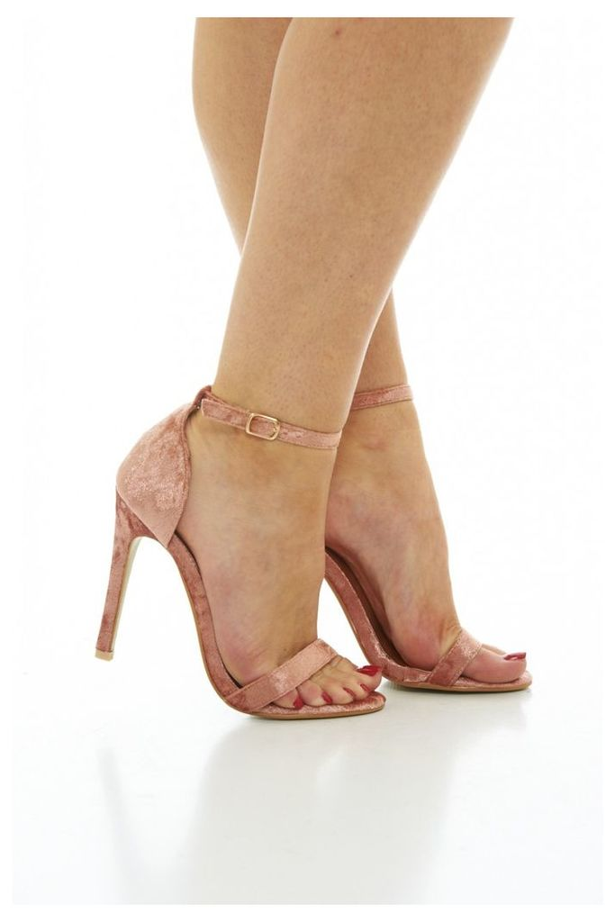 AX Paris Simple strappy heels Pink