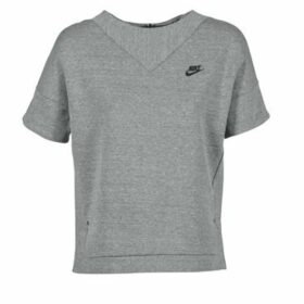 Nike  TECH FLEECE CREW  women's Sweatshirt in Grey