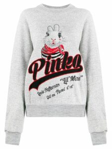 Pinko logo rabbit jumper - Grey
