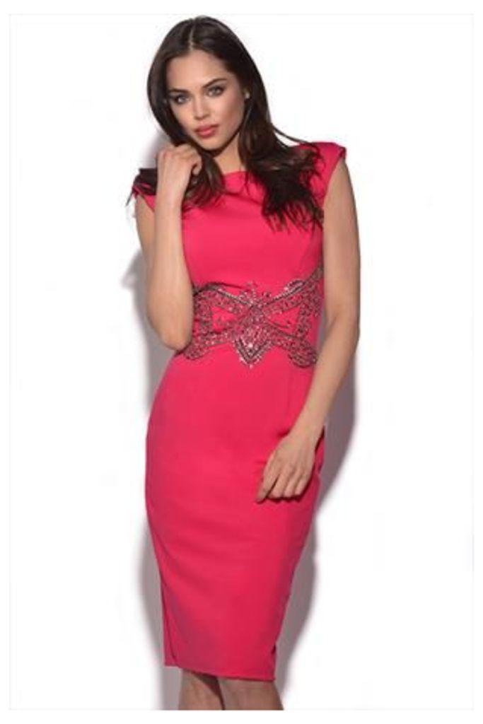Embellished Waist Dress
