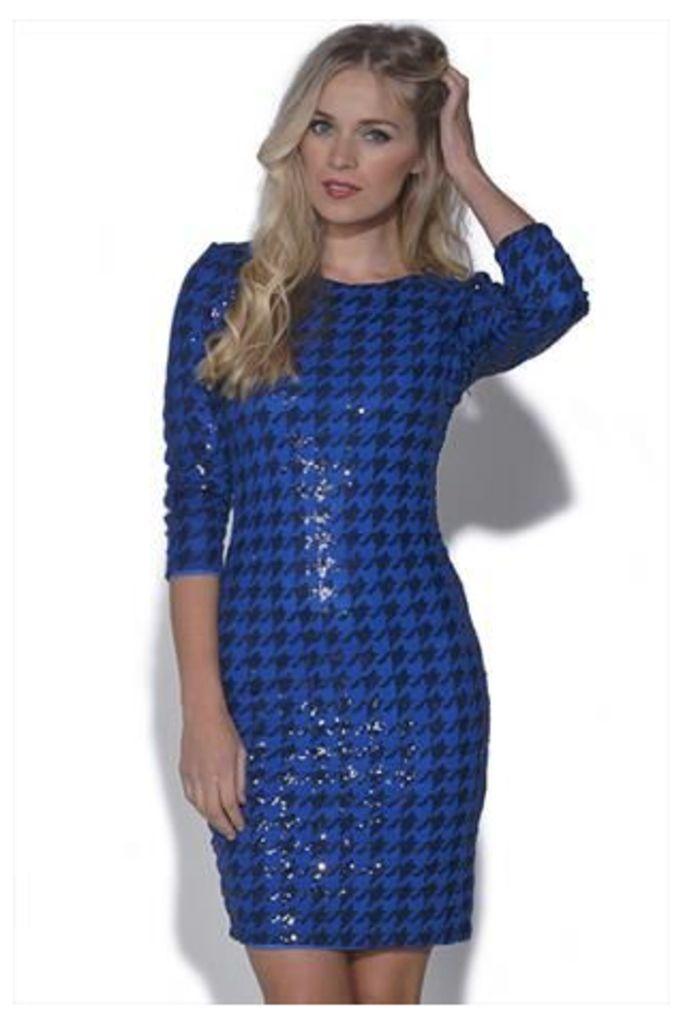 TFNC Paris Houndstooth Dress