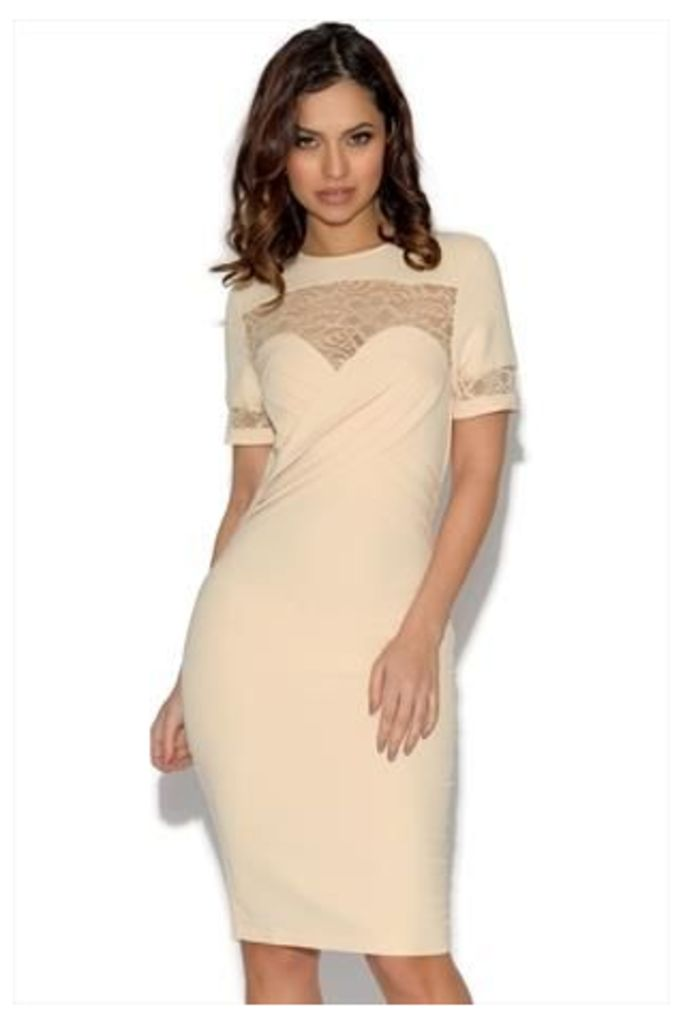 Paper Dolls Pleated Front Lace Detail Dress