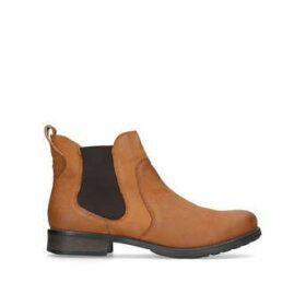 Womens Carvela Kurt Geiger Solid Tan Leather Ankle Boots, 5 UK