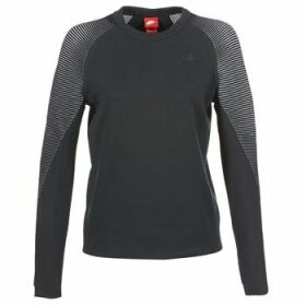 Nike  TECH FLEECE CREW  women's Sweatshirt in Black