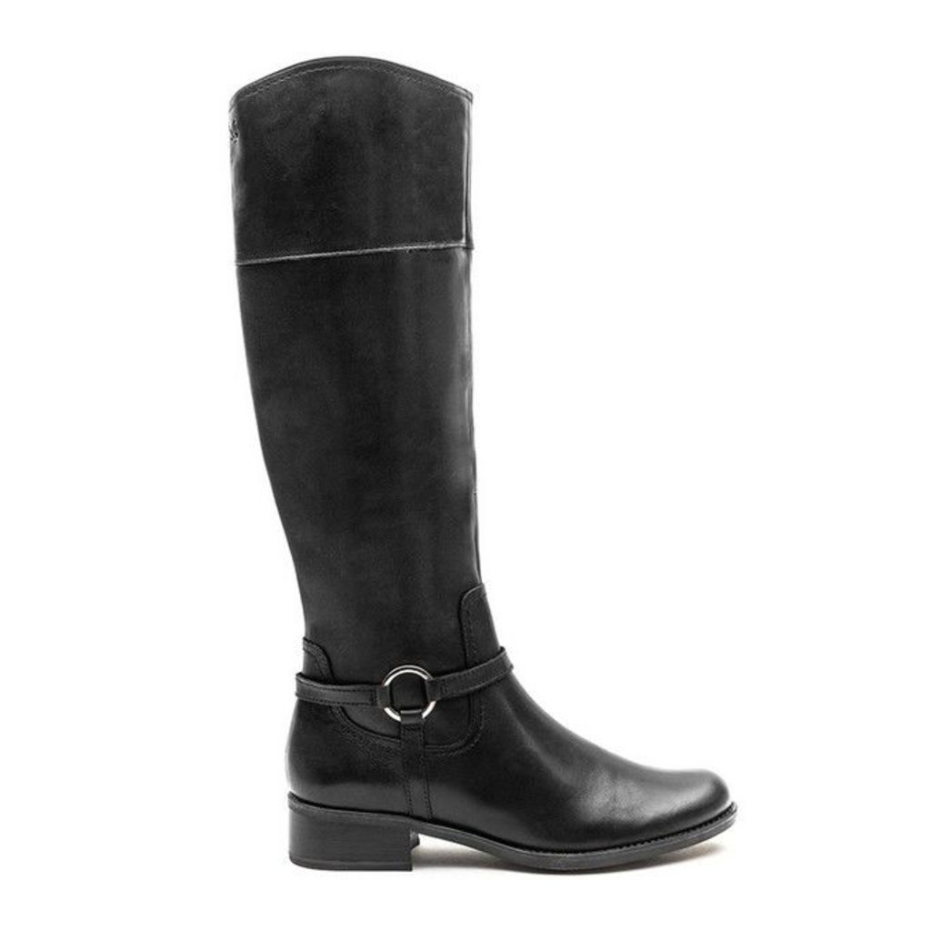 Caprice - Stirrup Boot - Black Leather - 6.5 uk
