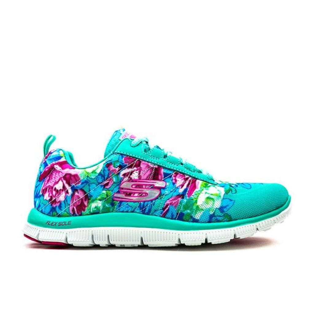 Skechers - Flex Appeal Wildflowers - Womens - Aqua/Multi - 3 uk