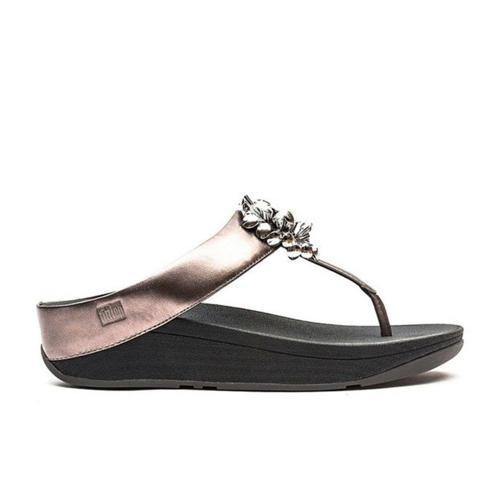 FitFlop� - Blossom� II - Nimbus Silver Leather - 4 uk