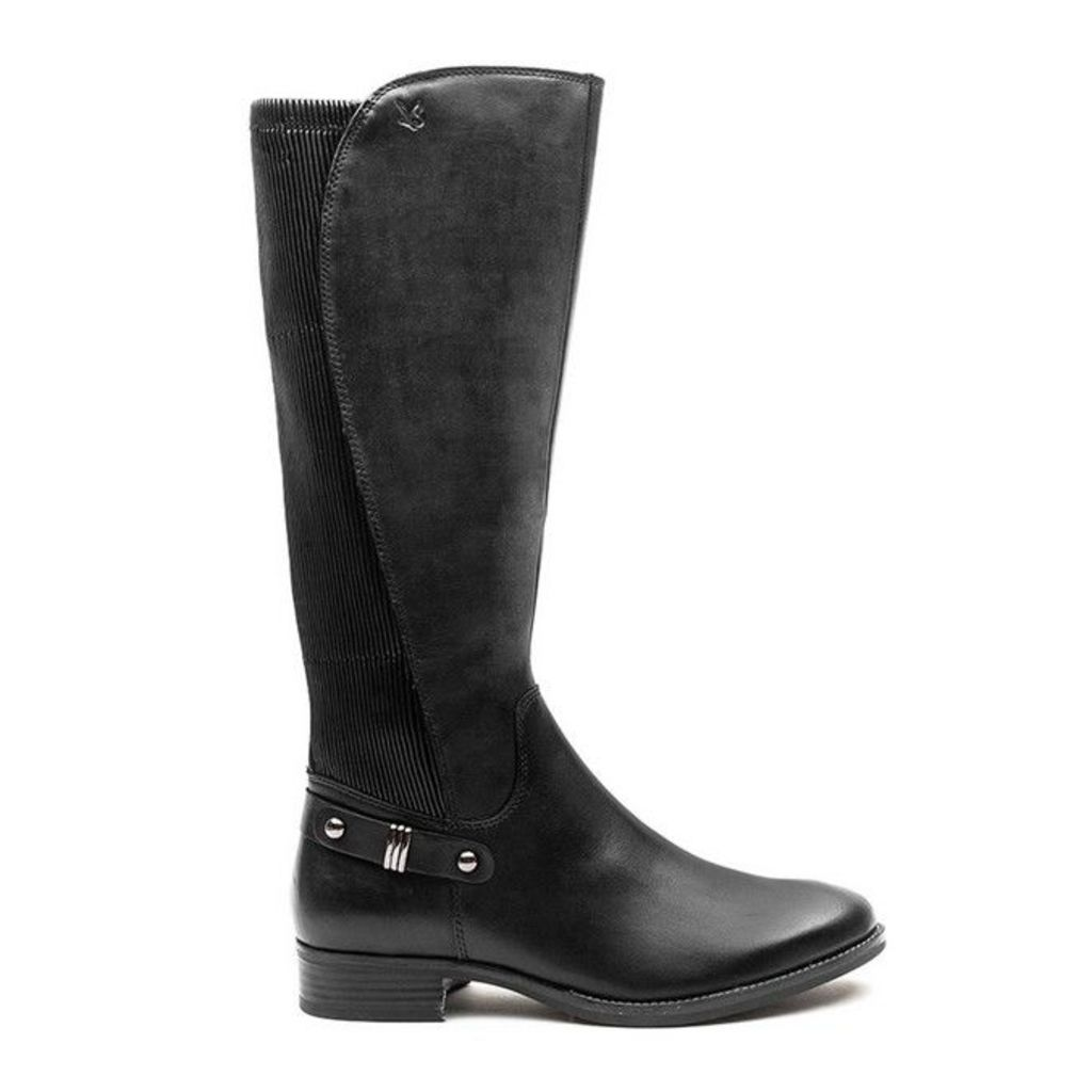 Caprice - Stretch Back Boot - Black Leather - 7 uk