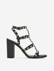 Rockstud 90 leather heeled sandals