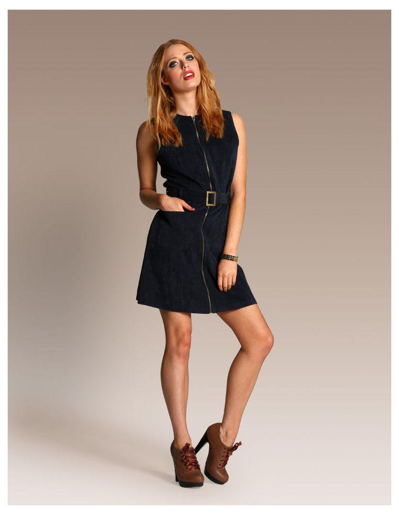 Cord Zip Front Dress-14