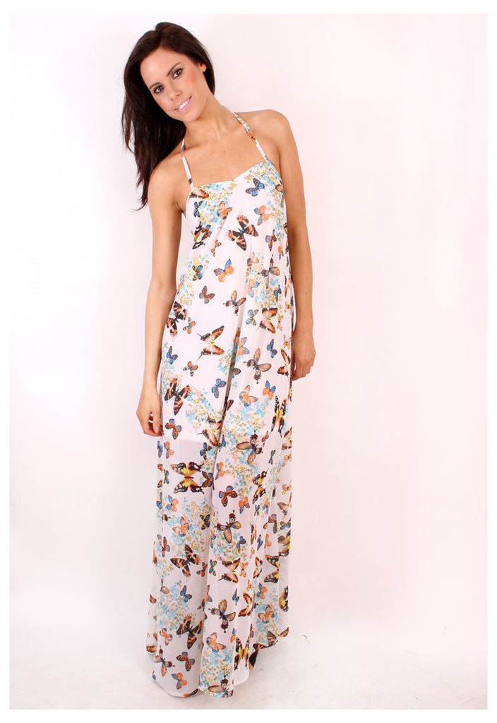 Madam Rage Butterfly Maxi Dress-12