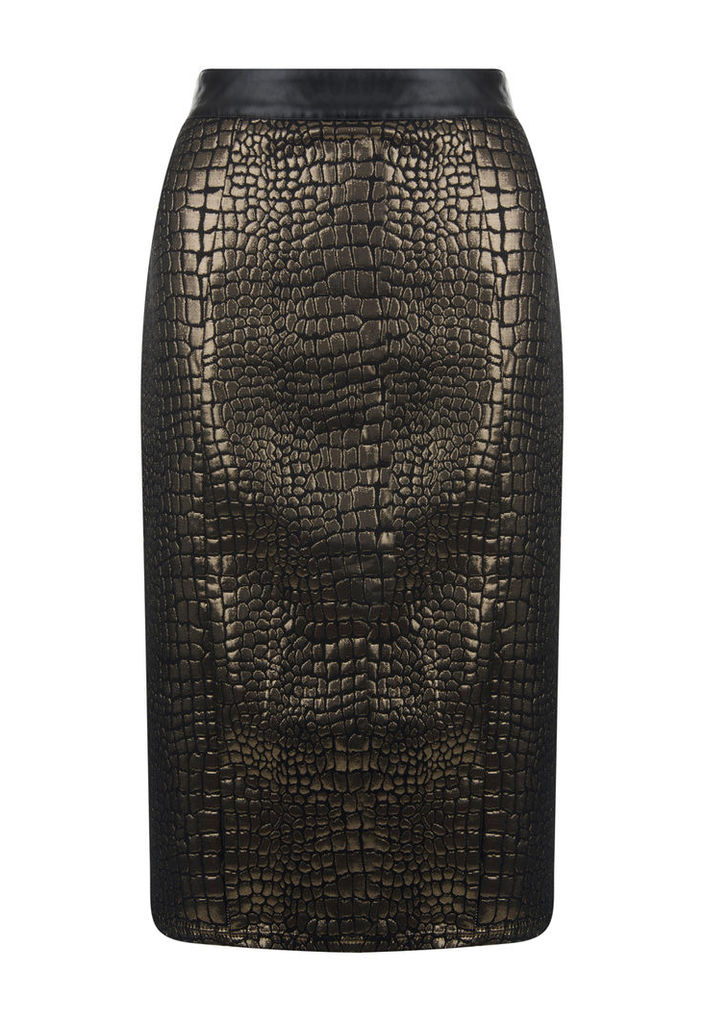 Madam Rage Snakeskin Metallic Skirt-12