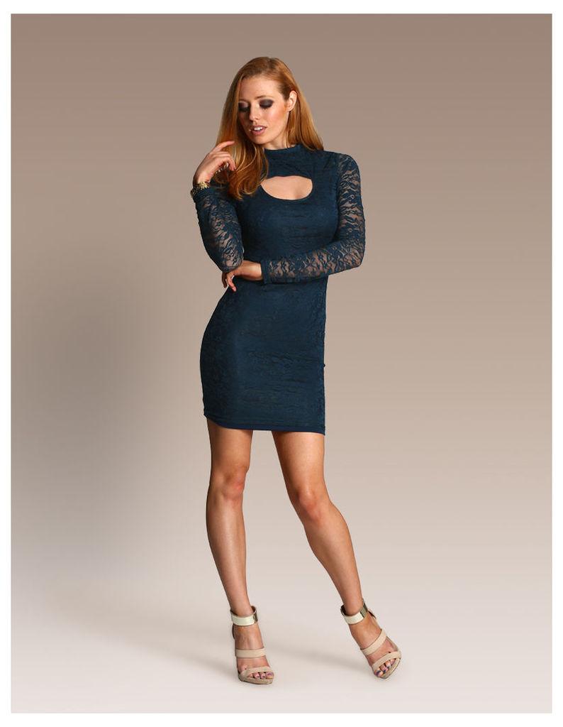 Lace Bodycon Dress-14