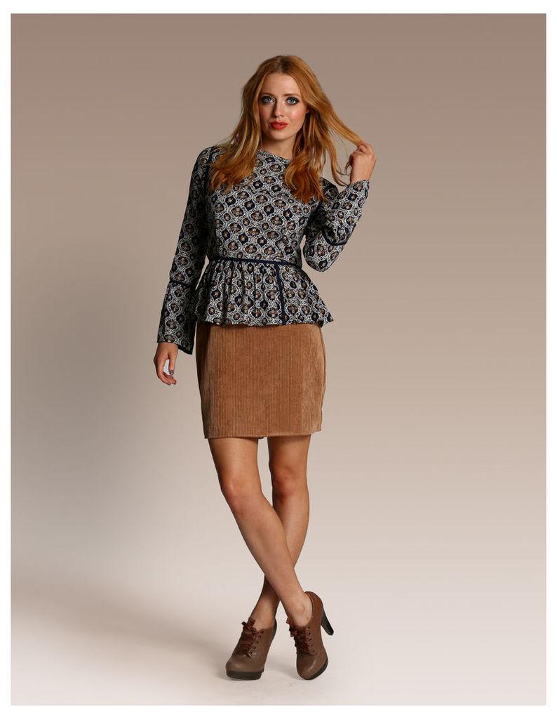 Cord Skater Skirt-10